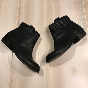 Sam Edelman Black Leather Ankle Boots 7.5 Booties